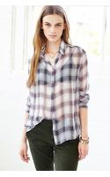 BDG Crinkle Chiffon Slim Buttondown Shirt - Lyst