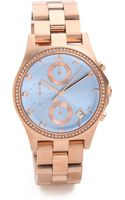 Marc By Marc Jacobs Henry Chrono Glitz Watch - Lyst