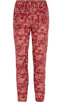 Etoile Isabel Marant Sid Printed Cottonvoile Pants - Lyst
