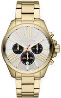 Michael Kors Womens Chronograph Wren Goldtone Stainless Steel Bracelet 42mm - Lyst