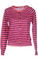 Jucca Striped Pink Cardigan - Lyst