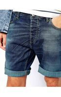 Selected Denim Shorts - Lyst