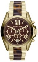 Michael Kors Bradshaw Tortoise  Gold-tone Stainless Steel Chronograph Watch - Lyst
