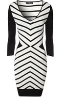 Jane Norman Chevron Jumper Dress - Lyst