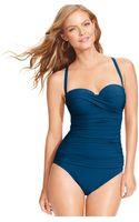 Gottex Bandeau Dcup One-piece Swimsuit - Lyst