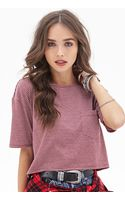 Forever 21 Boxy Striped Crop Top - Lyst