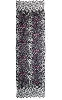 Valentino Cashmere Jaguarprint Scarf with Lace Trim Gray - Lyst