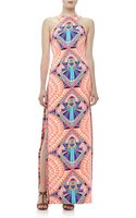 Mara Hoffman Highneck Printed Column Maxi Dress - Lyst