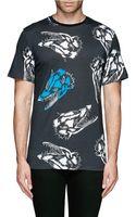 Lanvin Fox Head Print Tshirt - Lyst