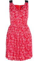 Marc By Marc Jacobs Cas Print Silk Cotton Dress - Lyst