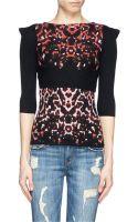 McQ by Alexander McQueen Pixel Leopard Wool Knit Sweater - Lyst