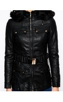 Glamorous Pu Jacket with Faux Fur Trim - Lyst