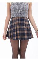 Forever 21 Pleated Plaid Mini Skirt - Lyst