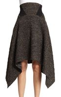 Donna Karan New York High Waisted Poncho Skirt - Lyst