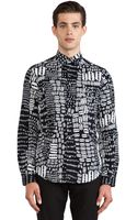 McQ by Alexander McQueen Graphic Fitted Button Down - Lyst