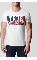 True Religion Hand Picked Crew Neck Mens T-shirt - Lyst