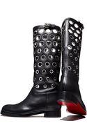 Christian Louboutin Apollobotta Redsole Flat Grommet Boot - Lyst
