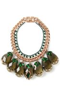 Mawi Statement Crystals and Spikes Necklace - Lyst