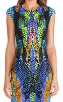 McQ by Alexander McQueen Cap Sleeve Dress - Lyst
