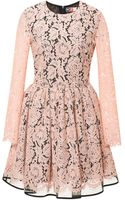 MSGM Pleated Lace Dress - Lyst