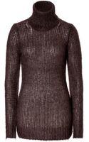 Michael Kors Mohair Wool Blend Waffle Knit Turtleneck - Lyst