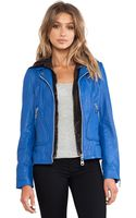 Doma Washed Lamb Leather Jacket with Detachable Hood - Lyst