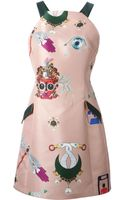 Mary Katrantzou Fenbot Mini Dress - Lyst