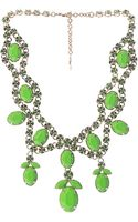 Valentino Statement Crystal Necklace - Lyst