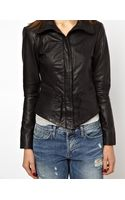 Y.a.s Daze Leather Jacket with Funnel Neck - Lyst