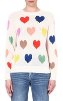 Wildfox Mod Pop Hearts Knitted Jumper - Lyst