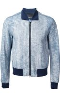 3.1 Phillip Lim Cracked Bomber Jacket - Lyst