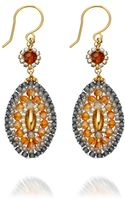 Miguel Ases Topaz Quartz Drop Earrings - Lyst