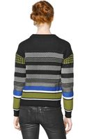 Diesel Black Gold Patchwork Jacquard Sweater - Lyst