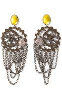 Bottega Veneta Cog Wheel Earrings - Lyst