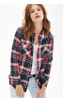 Forever 21 Plaid Flannel Western Shirt - Lyst