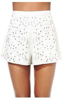 Nasty Gal Collection Virtue and Vice Embroidered Shorts - Lyst