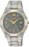 Seiko Mens Solar Twotone Stainless Steel Bracelet 39mm Sne166 - Lyst