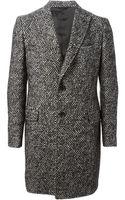 Tonello Single Breasted Tweed Coat - Lyst