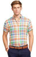 Polo Ralph Lauren Short-sleeved Plaid Linen Shirt - Lyst