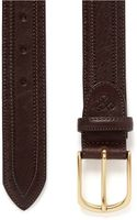 Canali Scallop Edge Leather Belt - Lyst