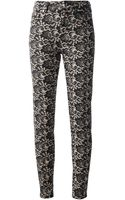 McQ by Alexander McQueen Lace Print Jeans - Lyst