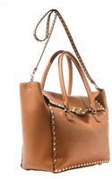 Valentino Rockstud Shopper Bag - Lyst