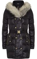 Juicy Couture Faux Fur Shawl Puffer Coat - Lyst