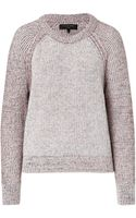 Rag & Bone Wool Blend Ribbed Pullover - Lyst
