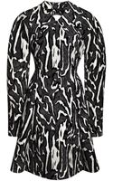 Proenza Schouler Flock Printed Crepe Suiting Moire Long Sleeve Dress - Lyst