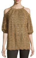 M Missoni Metallic Cold-shoulder Blouse - Lyst