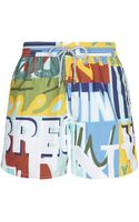 Vilebrequin Moorea Writing Swim Shorts - Lyst