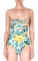 Mary Katrantzou Bora Swimsuit Silverfloss - Lyst