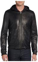 Vince Reversible Leather Jacket - Lyst
