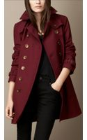 Burberry Stretch Cotton Trench Coat - Lyst